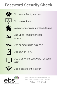 Password security check infographic